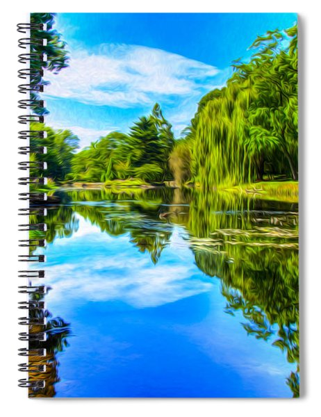 Lake Scene Spiral Notebook