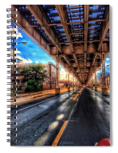 Lake Street El Tracks Spiral Notebook