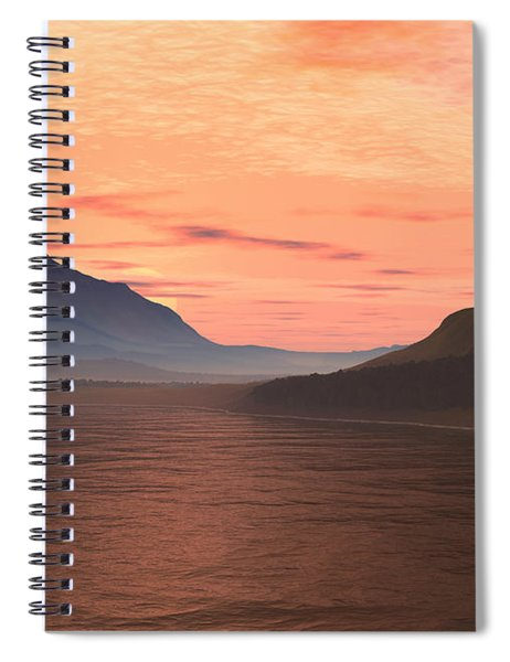 Lake Sunset 1 Spiral Notebook