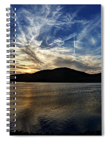 Lake Sunset In The Wichita Mountains Spiral Notebook