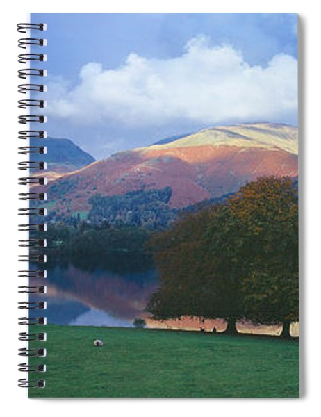 Lake Surrounded By Mountains, Grasmere Spiral Notebook
