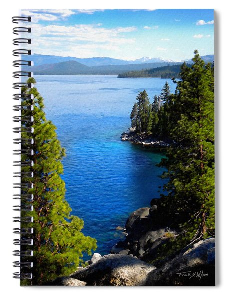 Lake Tahoe From The Rubicon Trail Spiral Notebook