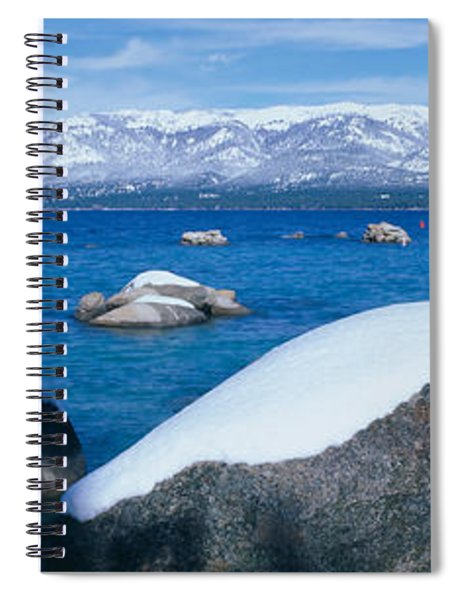 Lake Tahoe In Winter, California Spiral Notebook