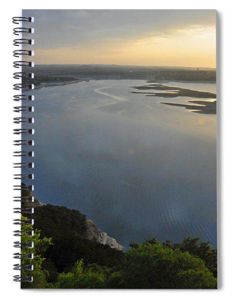 Lake Travis Sunset Spiral Notebook