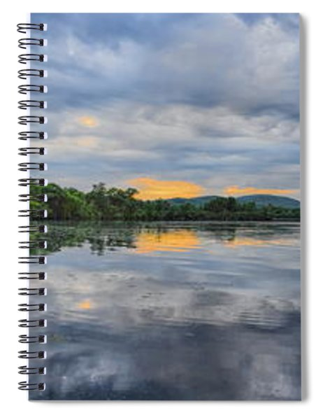 Lake Wausau Summer Sunset Panoramic Spiral Notebook