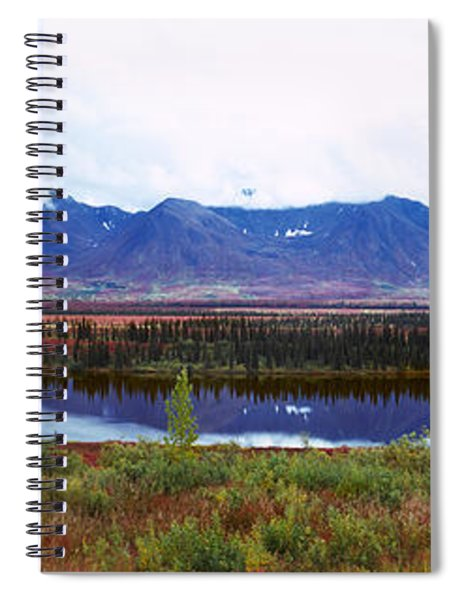Lake With A Mountain Range Spiral Notebook