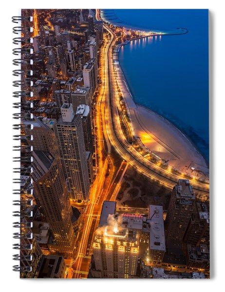 Lakeshore Drive Aloft Spiral Notebook