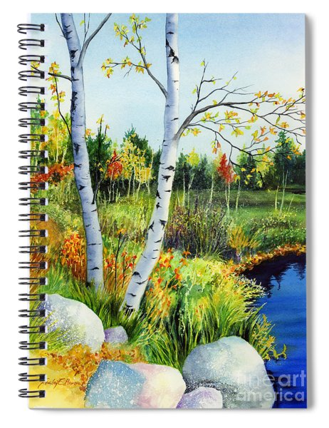 Lakeside Birches Spiral Notebook
