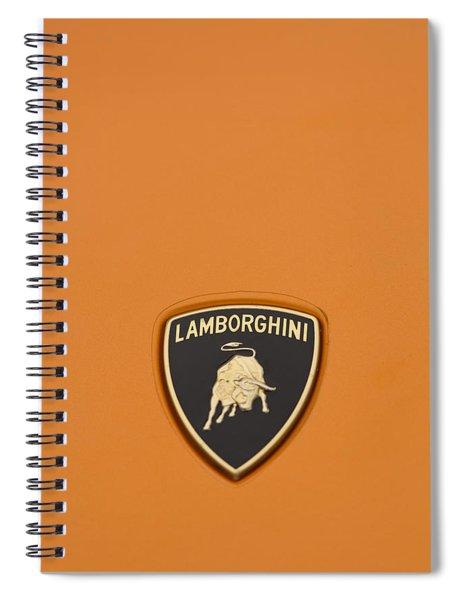 Lambo Hood Ornament Orange Spiral Notebook