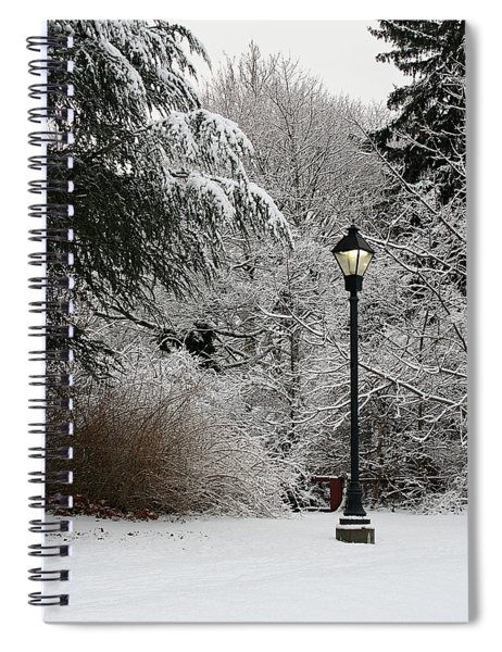 Lamp Post In Winter Spiral Notebook