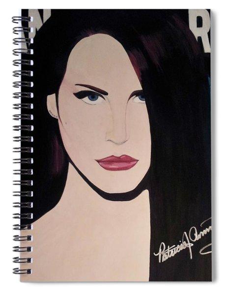 Lana Del Rey Blue Eyes Spiral Notebook