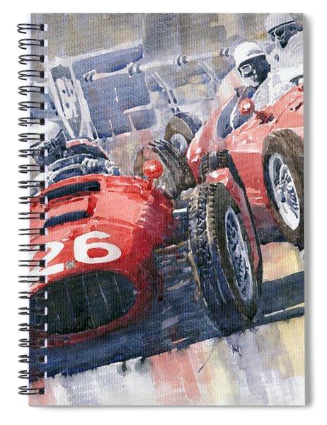 Lancia D50 Alberto Ascari Monaco 1955 Spiral Notebook