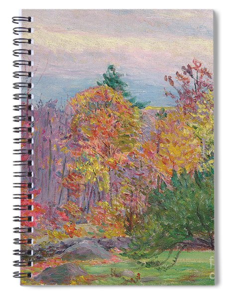 Landscape At Hancock In New Hampshire Spiral Notebook