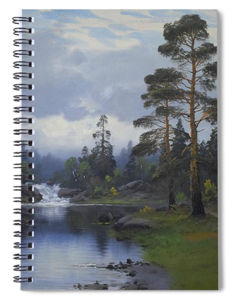 Landscape From Norway Spiral Notebook