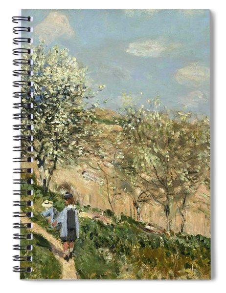 Landscape. Spring At Bougival Spiral Notebook