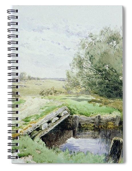 Landscape With Bridge Over A Stream Spiral Notebook