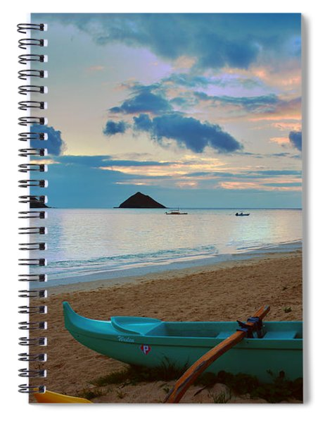 Lanikai Beach Sunrise 6 - Kailua Oahu Hawaii Spiral Notebook