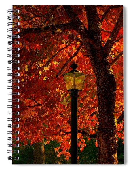 Lantern In Autumn Spiral Notebook