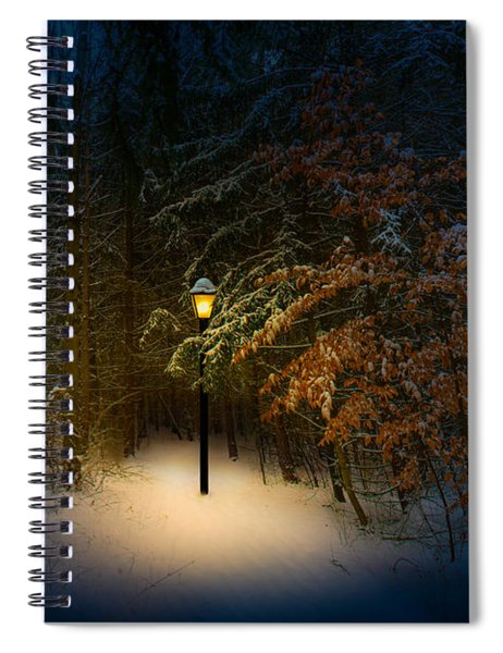 Lantern In The Wood Spiral Notebook