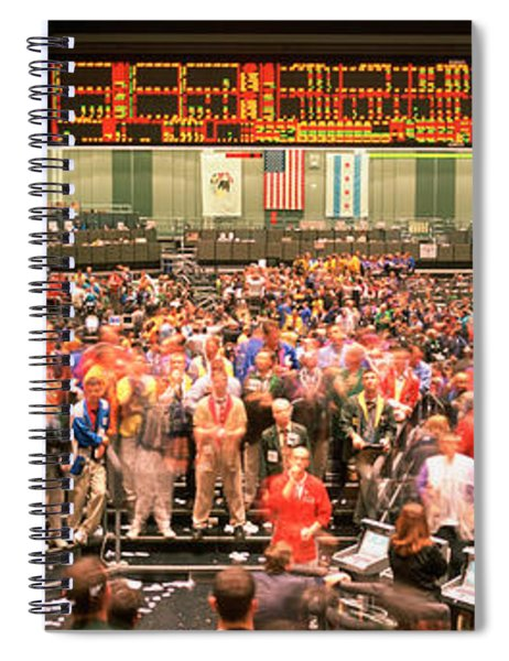 Large Group Of People On The Trading Spiral Notebook