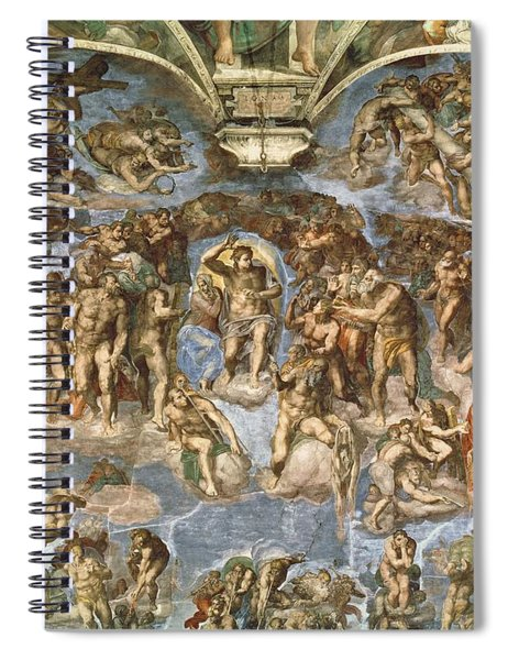 Last Judgement, From The Sistine Chapel, 1538-41 Fresco Spiral Notebook