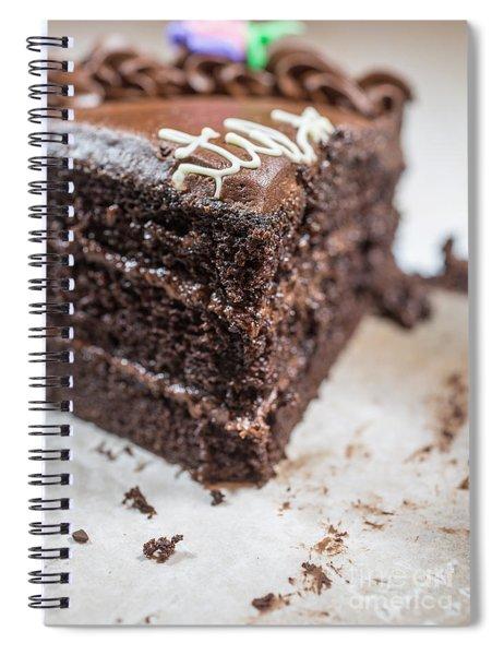 Last Piece Of Chocolate Cake Spiral Notebook
