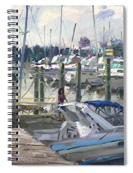 Late Afternoon In Virginia Harbor Spiral Notebook