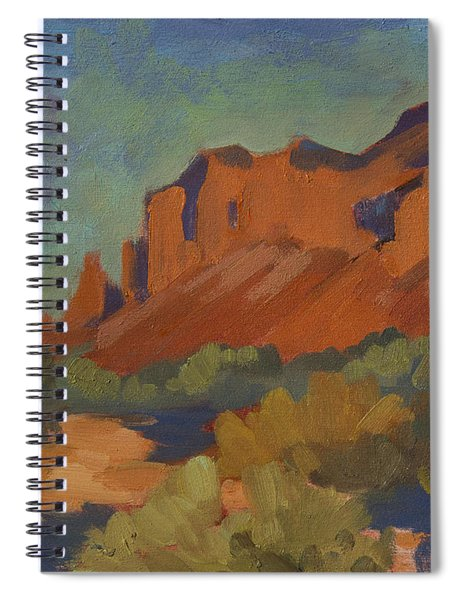 Late Afternoon Light At Superstition Mountain Spiral Notebook
