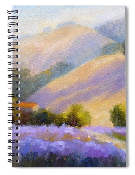 Late June Hills And Lavender Spiral Notebook