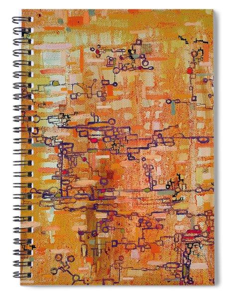 Lattice Animals Abstract Oil Painting By Regina Valluzzi Spiral Notebook