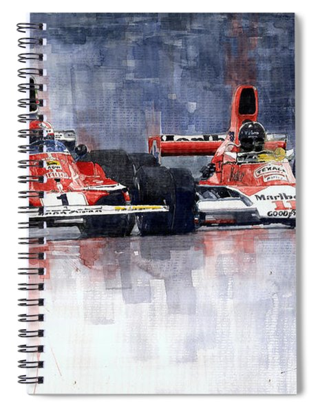 Lauda Vs Hunt Brazilian Gp 1976 Spiral Notebook