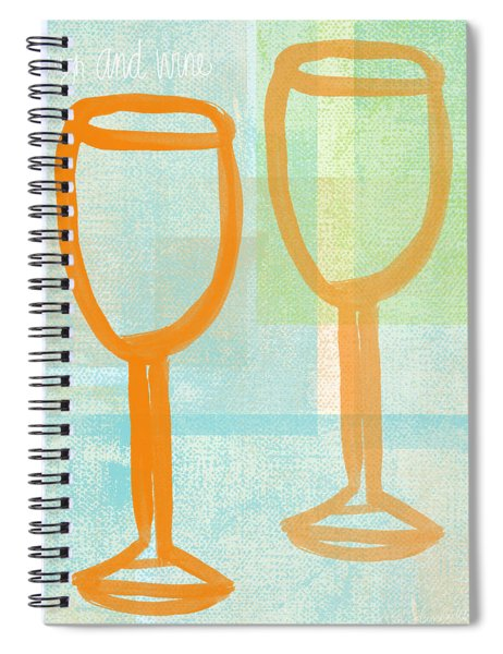 Laugh And Wine Spiral Notebook