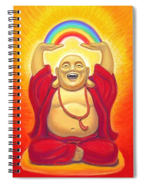 Laughing Rainbow Buddha Spiral Notebook