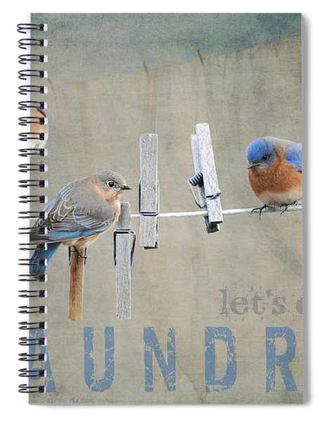 Laundry Day - Lets Do Laundry Spiral Notebook