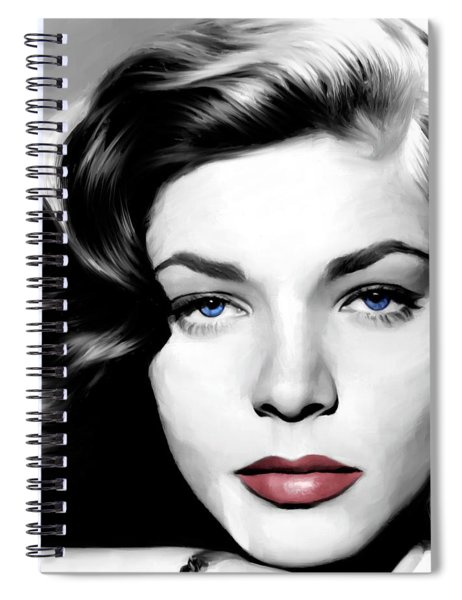 Lauren Bacall Large Size Portrait Spiral Notebook