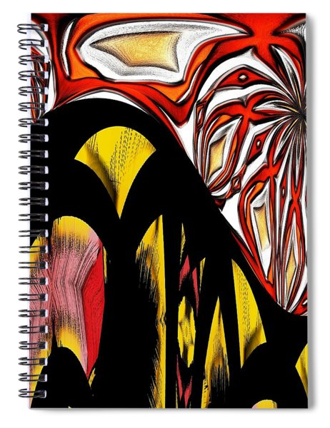 Lava Flow Spiral Notebook