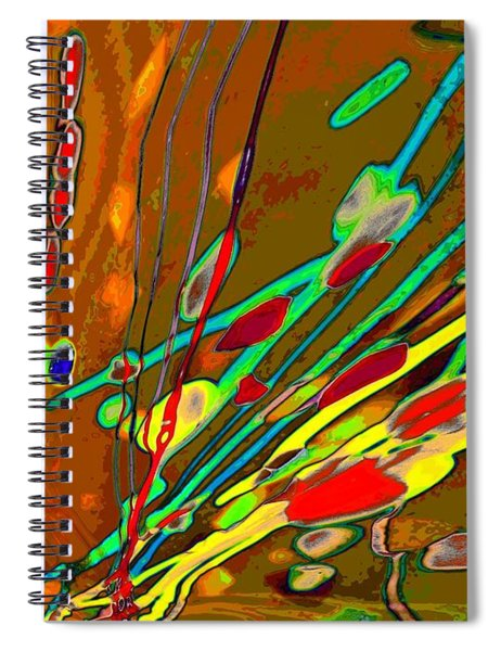 Lava Splash On Venus Abstract Spiral Notebook