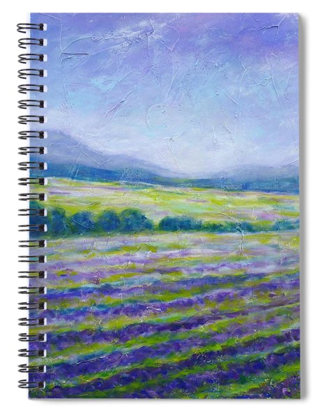 Lavender Field In Provence Spiral Notebook