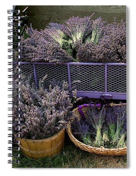 Lavender Harvest Spiral Notebook