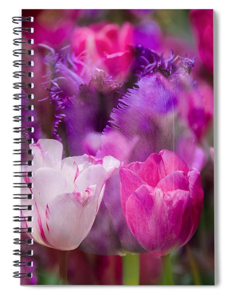 Layers Of Tulips Spiral Notebook