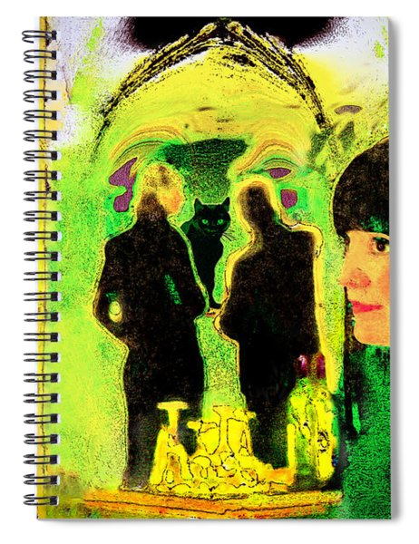 Le Chat Noir Spiral Notebook