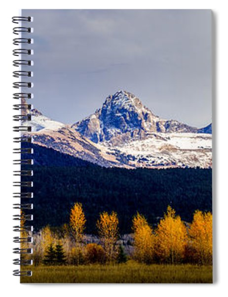 Le Trois Tetons Spiral Notebook