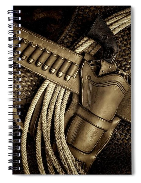 Leather And Lead Spiral Notebook