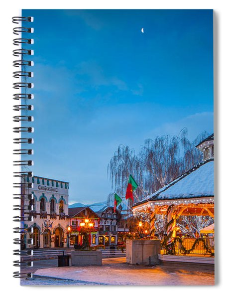 Leavenworth Christmas Moon Spiral Notebook