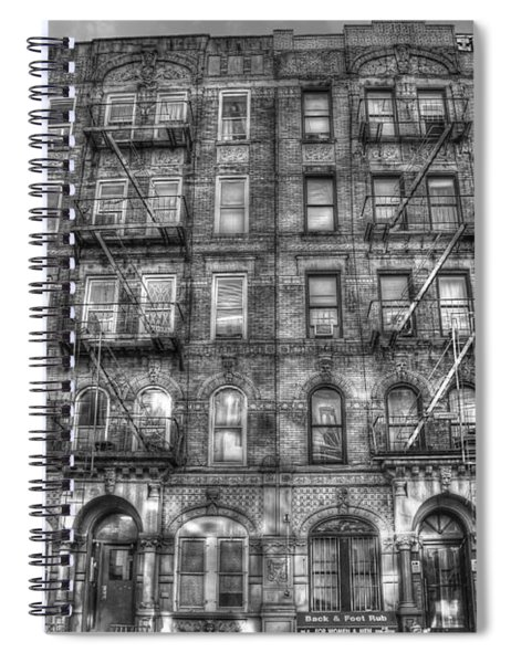 Led Zeppelin Physical Graffiti Building In Black And White Spiral Notebook