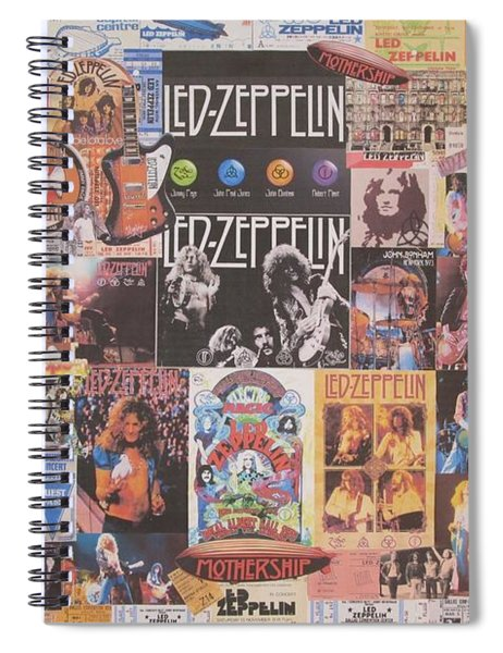 Led Zeppelin Years Collage Spiral Notebook