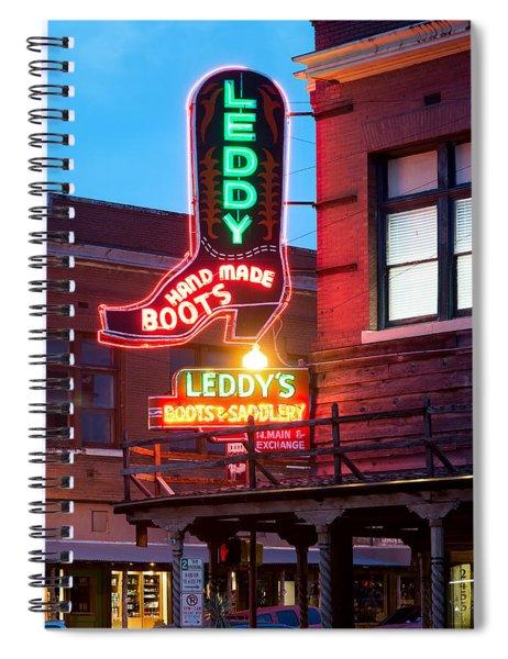 Leddy Hand Made Boots 031315 Spiral Notebook