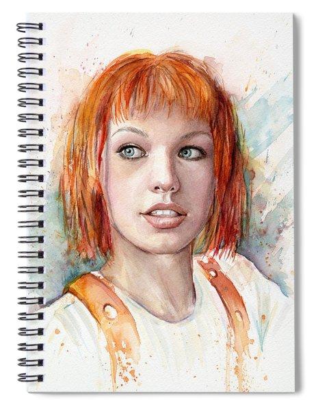 Leeloo Portrait Multipass The Fifth Element Spiral Notebook
