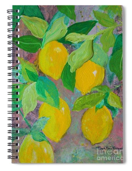 Lemons On Lemon Tree Spiral Notebook