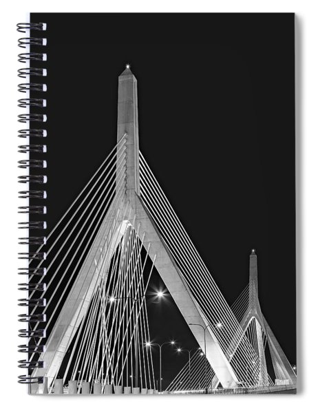 Leonard P. Zakim Bunker Hill Memorial Bridge Bw II Spiral Notebook